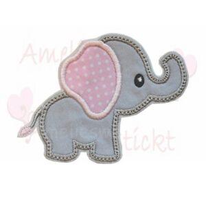 Elefant Applikation Aufbügler Aufnäher Patch Bügelbild Sticker zum aufbügeln