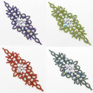 Wedding-Rhinestone-Applique-Trim-Bridal-Dress-Belt-Sash-DIY-Decor-Sewing-Craft
