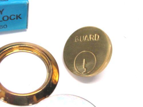 GUARD SECURITY BRASS DUMMY CYLINDER DOOR LOCK No NOS 160