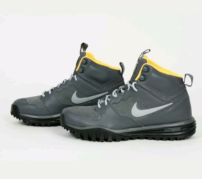 Nike Dual Fusion Hills Mid Leather Mens Hi Top Trainers 695784 001 Taille 6.5