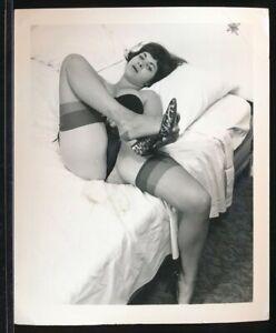 1960s Original 4 x 5 Sexy Photo Beautiful Buxom Brunette