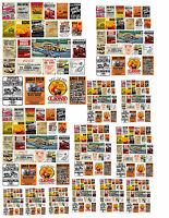 1:24 1:32 1:43 1:64 Drag Racing Posters Decals For Diecast & Other Dioramas