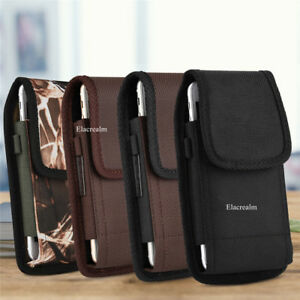 Belt-Clip-Vertical-Holster-Pouch-Carrying-Case-For-Apple-Samsung-Large-CellPhone