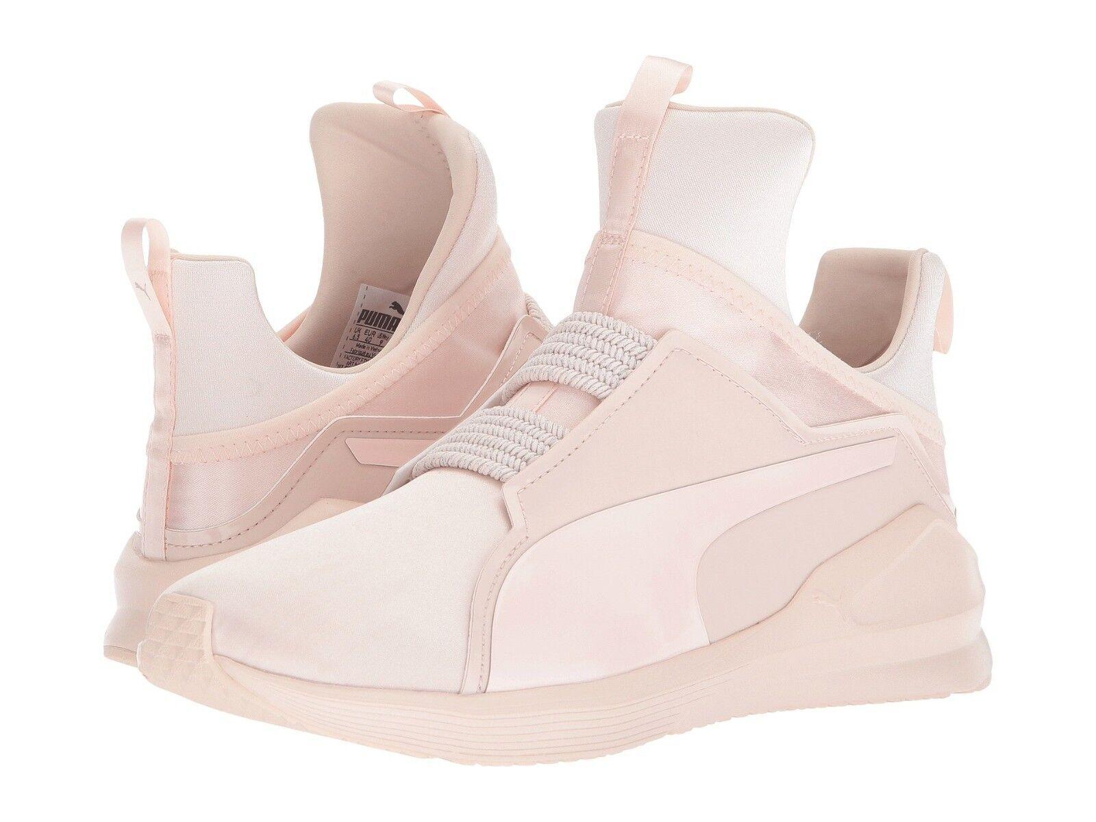 Women's Shoes PUMA Fierce Satin EP Hightop  Lace Sneaker 19054502 Pearl  Hightop New 9b0011