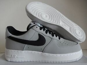 reputable site c12f5 3977a Image is loading NIKE-AIR-FORCE-1-07-LEATHER-WOLF-GREY-