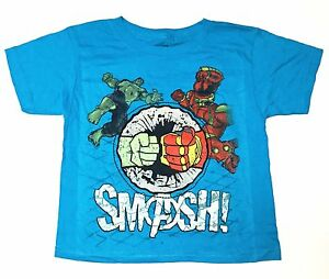 Boy/'s Size 4  Juvy T-Shirt Navy Blue Graphic Tee Avengers Age Of Ultron