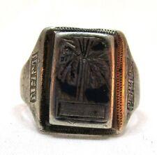 Vintage WW II Sterling Silver Iran 1945 Ring