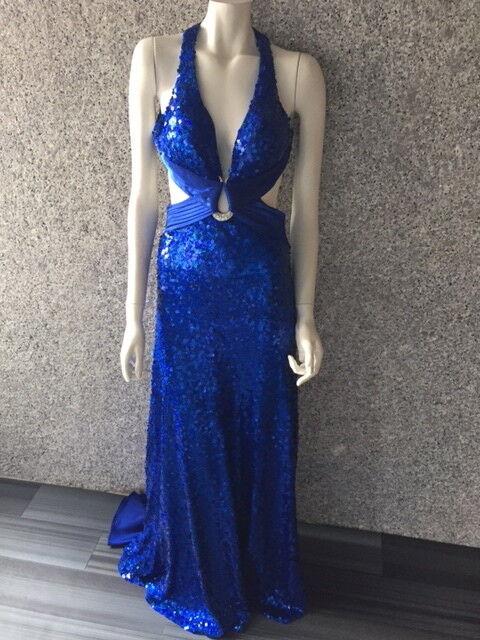 La Femme long dress gown Royal Cobalt bluee  Sequence S