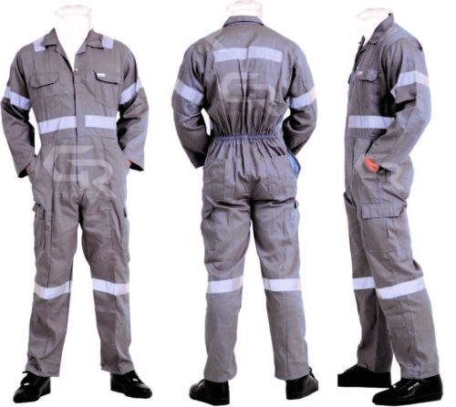 Gratex Mens Premium Long Sleeve Coverall Overall Boilersuit Mechanic Protective
