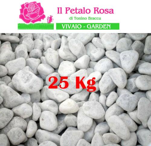 SASSI CIOTTOLI MARMO BIANCO CARRARA IN SACCHI 25 KG. PIETRE BIANCHE ⌀.15//25 MM