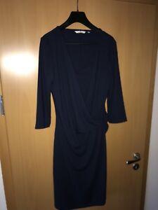 Details zu edles Kleid Gr. L dunkelblau 34 arm ungetragen TOM TAILER