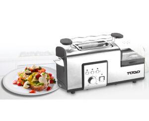 TODO 1250W Breakfast Master Toaster Egg Cooker Poacher Bacon Fryer All In One