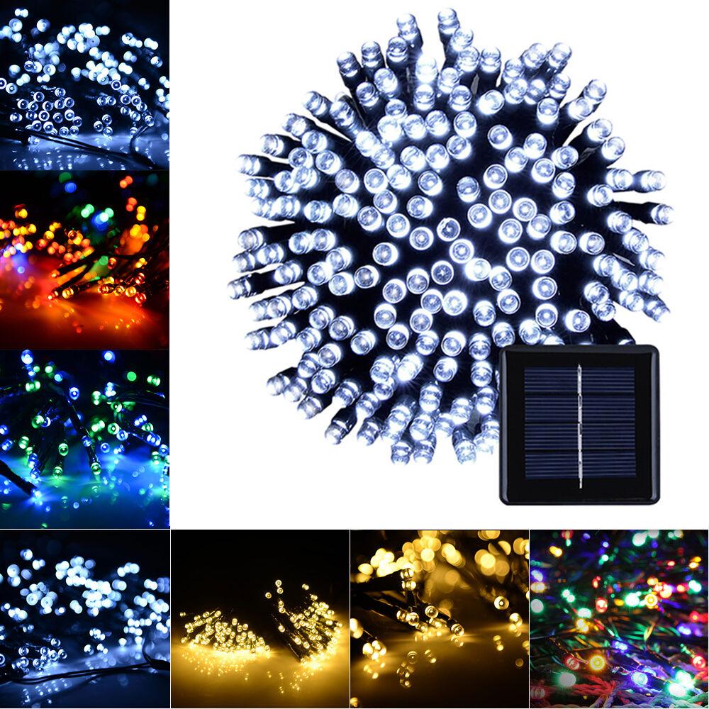 String Lights Shapes : Solar flower shape String Lights Outdoor For Christmas Party Waterproof 50 led eBay