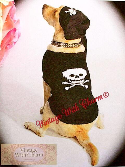 Pirate Dog Coat Jumper Knitting Pattern Salty Sea Dog 4 Sizes Just