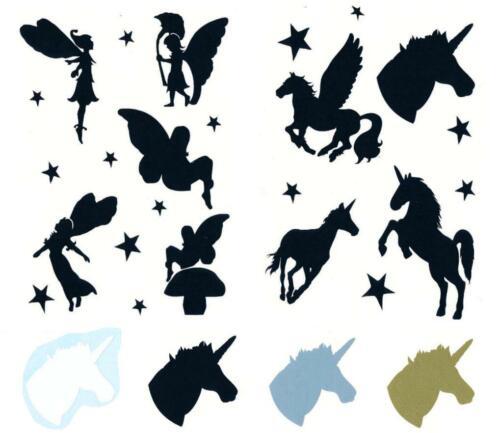 Sticker Fantaisie Elfes licornes ailes autocollant transfert film BB