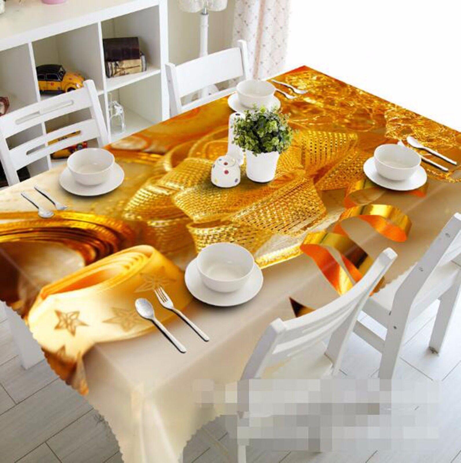 3D Gloden 45 Nappe Table Cover Cloth fête d'anniversaire AJ papier peint Royaume-Uni Citron