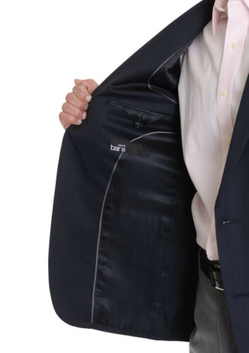 $400 Bar III Slim Fit Navy Blue Stripe 2 Button 100/% Wool Mens Blazer Sportcoat