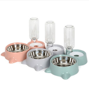 Pet-Cat-Dog-Dry-Food-And-Water-Drinking-Dispenser-Automatic-Feeding-Double-Bowl