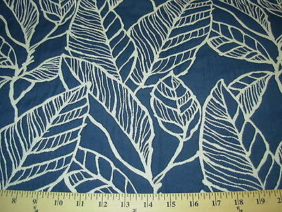 ~MODERN~LEAVES~EMBROIDERED PILLOW PANEL FABRIC FOR LESS~REMNANT~ 29X58 INCH~
