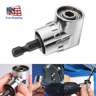 """105 Degree Right Angle Drill Attachment Adapter Power 1//4/"""" Flexible Shaft Pack"""