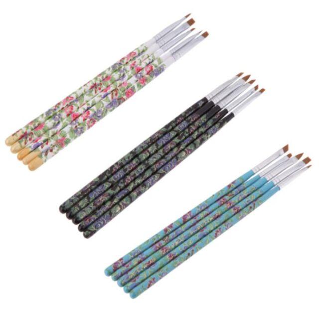 Lots 5pcs Acrylic UV Gel Nail Art Design Dotting Painting DIY Brush Pen Tool set