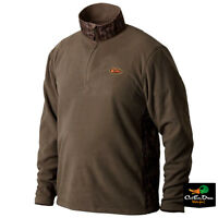 Drake Waterfowl Non-typical Camp Fleece Pullover Bottomland Camo 2xl
