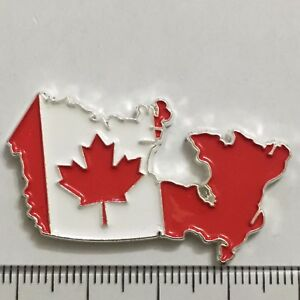 Canada Map Flag.Somalia 2013 Canada Map Flag Coloured Enamel Coin 3222789c Ebay