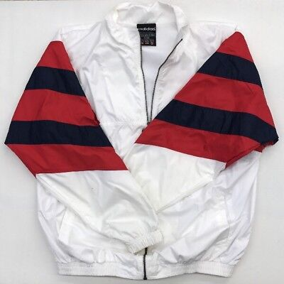 Activewear Hospitable Adidas Color Block Track Jacket Men's Large Vintage Euc Red White Blue 90's Usa Activewear Jackets