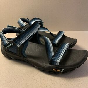 Details about MERRELL Sandal Women's Shoes Size 7 Blue Strappy All Out Blaze Web Sea Pine