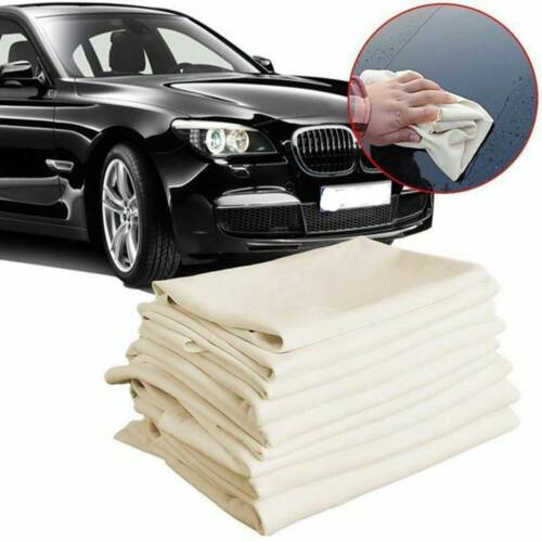 Natural Shammy Chamois Leather Car Cleaning Towels Drying Washing Cloth 65*40cm