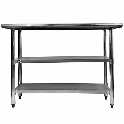 """Stainless Steel Top Work Table 33-7/8"""" x 24"""" with Two ..."""