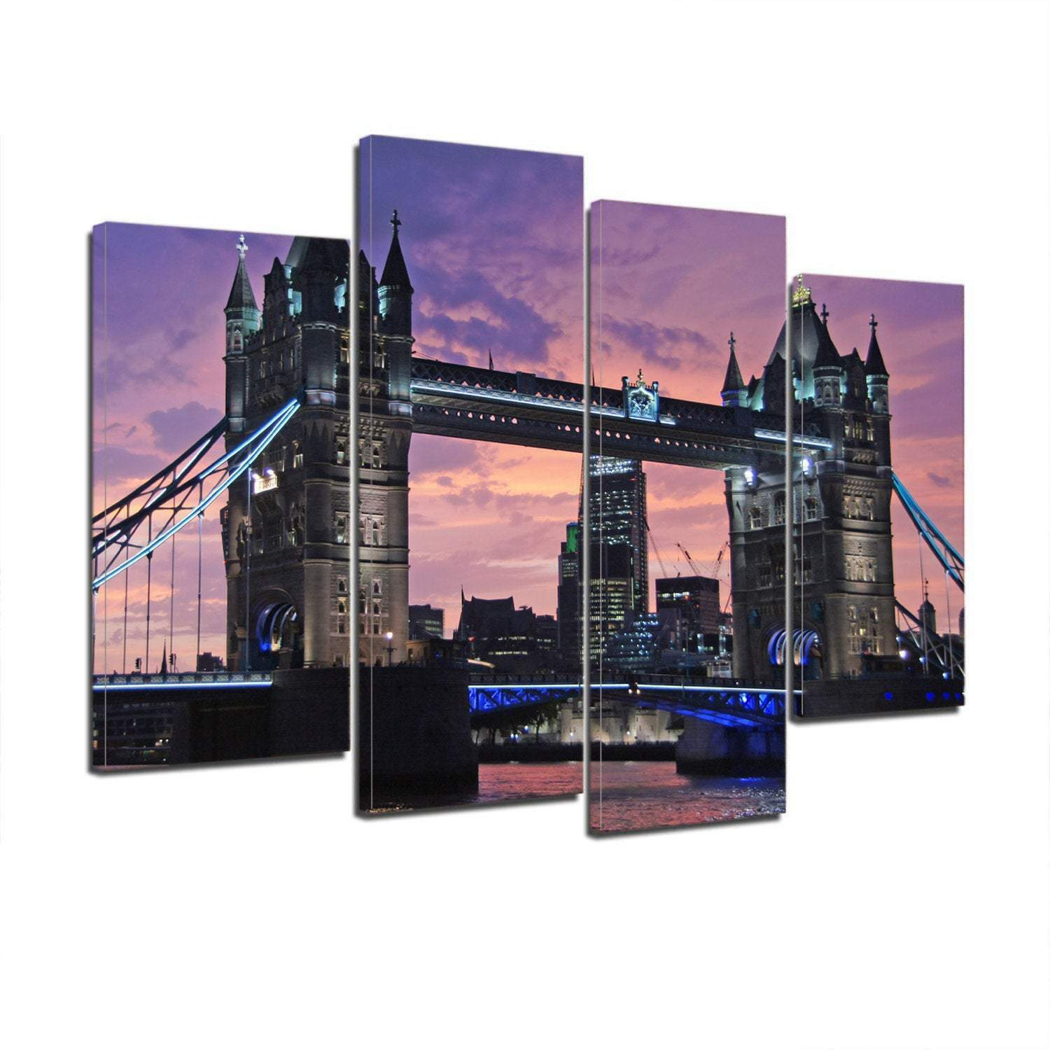 London Bridge England 4 Piece Canvas Wall Art Image Pictures Of London Wallpaper