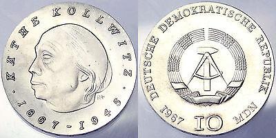 10 MARK 1967 KATHE KOLLOWITZ DEUTSCHE DEMOKRATISCHE REPUBLIK DDR SILVER #2050
