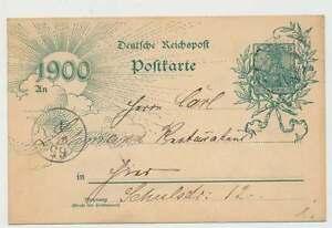 D.Reich P 43 Jahrhundertwende als Ortskarte BERLIN 8.5.00 (31182)