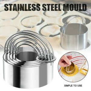 5 Set Round Circle Stainless Steel Cookie Cutter Biscuit DIY Baking Pastry Mould