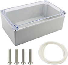Plastic Electronic Project Box Waterproof Junction Box Enclosure Clear Cover New