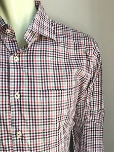 Peter Millar Shirt, Rogers Plaid, X-Large, Excellent Condition