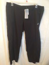 Adidas Yoga Black Running Exercise Workout Pants XL X- Large with 3 Pockets !