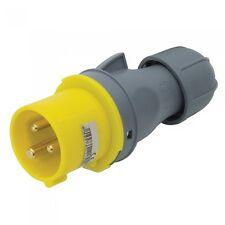 16A 3 PIN INDUSTRIAL MALE PLUG 110V IP44 WEATHERPROOF