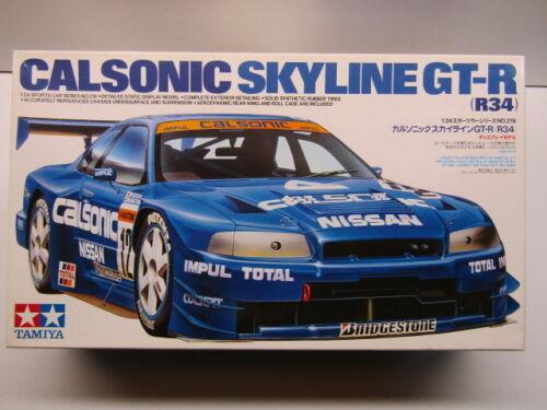 1 of 1 - Tamiya 1:24 Scale Calsonic Nissan Skyline R34 GT-R Model Kit # 24219 - Used