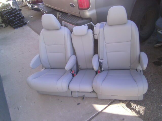 NEW TAKEOUTS 2 Bucket Seats & Middle Seat TRUCK VAN BUS HOTROD gray leather