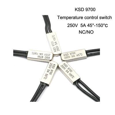 KSD301 250VAC 10A 130 Celsius NC Contrôle de Température Interrupteur Thermostat