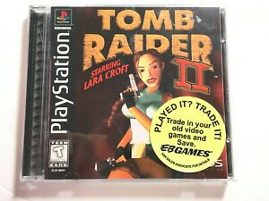 Tomb Raider Ii 2 Black Label Ps1 Playstation Complete W Case