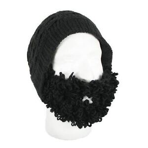 609ee307451 Image is loading Beard-Head-Curly-Atticus-Black-Slouch-Style-Beanie-