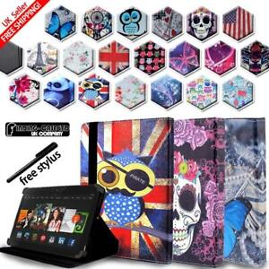 For-Amazon-Kindle-Fire-7-HD8-HD10-Alexa-Tablet-Folio-Stand-Leather-Cover-Case