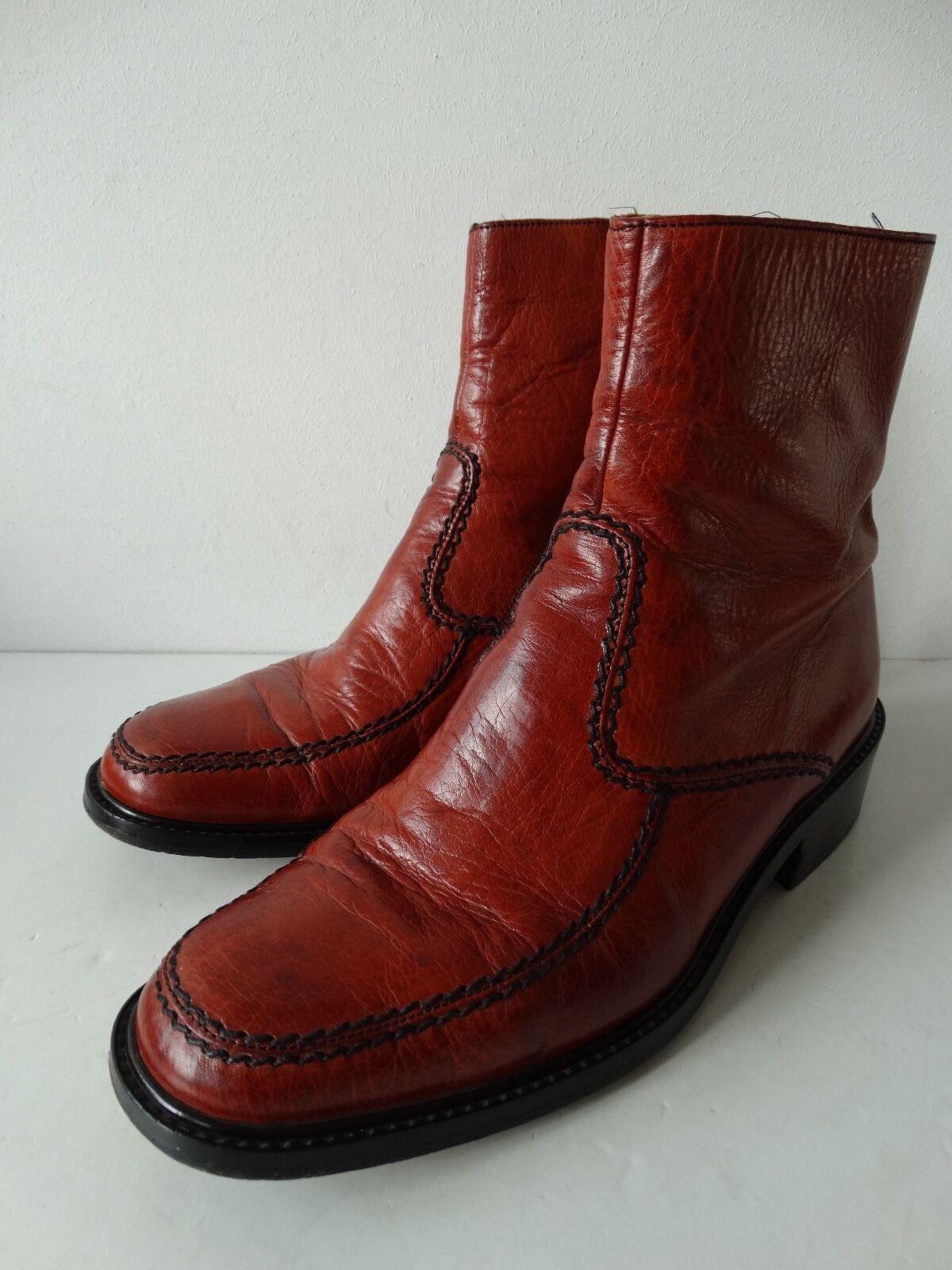 Vintage zapatos zapatos zapatos caballero botines talla 7,5 (41) 70er 70´s Top  Tienda de moda y compras online.