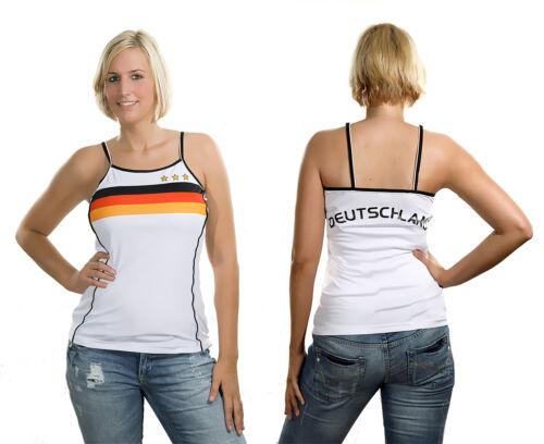 Damen Girl Top Deutschland Größe S XL Fußball T-Shirt Trikot Fanartikel WM EM