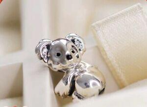 Details about Genuine Pandora Sterling Silver Koala Charm 798431C01