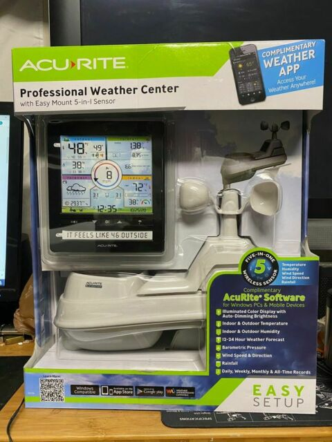 AcuRite 5 In 1 Professional Weather Center with Windows Connect Wireless App