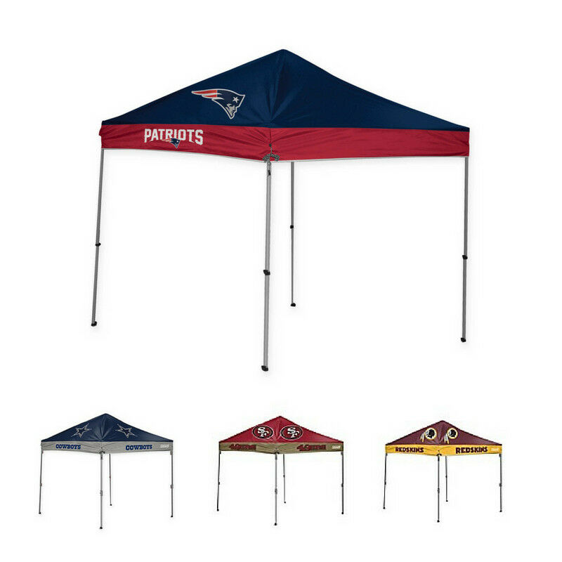 NFL Straight Leg 9 x 9 Ft Canopy w  Case Outdoor Shelter Tent Waterproof Folding